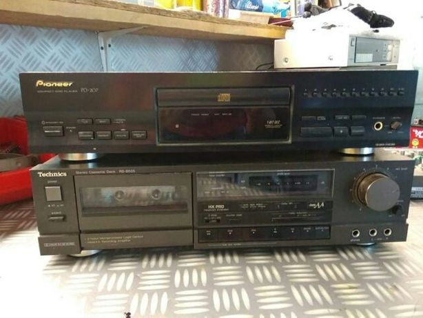 Pioneer odtwarzacz CD magnetofon deck technics