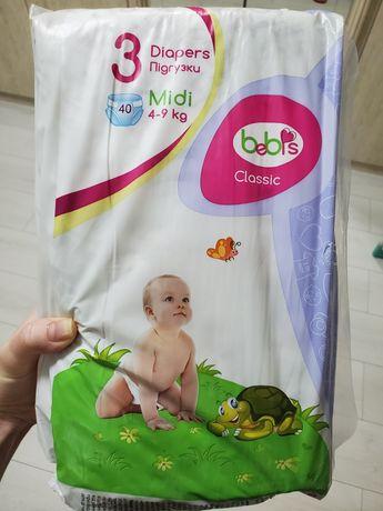 Подгузники памперсы Bebis 3