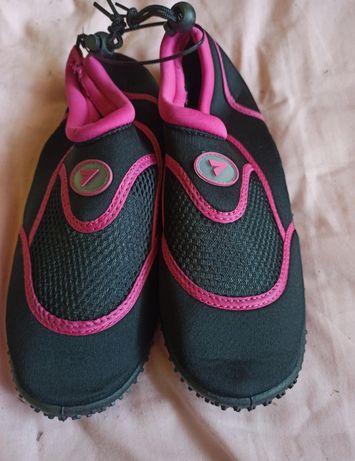Nowe buty do wody gumowe damskie  na plażę basen 40