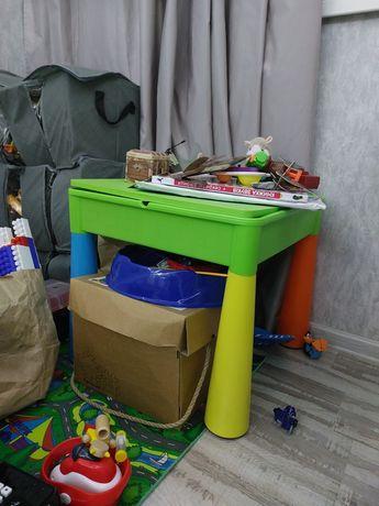 Детский стол столик лего доска lego два стула в комплекте Tega