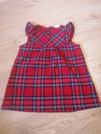 Sukienka na święta H&M, sukienka w kratkę dla dziewczynki