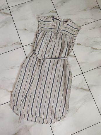 Льняное платье в полоску White Stuff р-р10 (42-44)