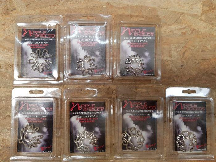 Piercings para o mamilo sem furo em prata Guia - imagem 1