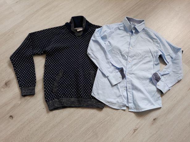 Sweter name it. +koszula M&S 8-9lat