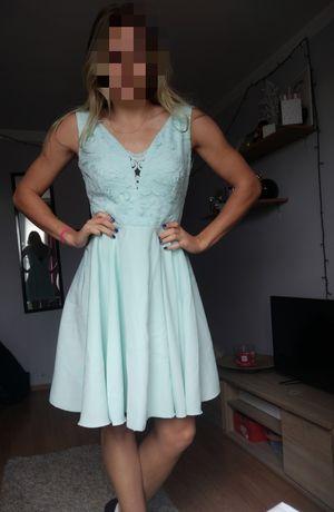 Niwa błękitna sukienka damska