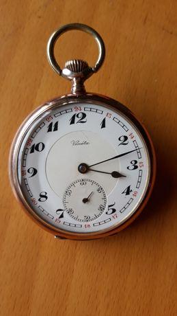 Relógio Homem lindo corda bolso anos 30 Vineta 15 jw Swiss revisto