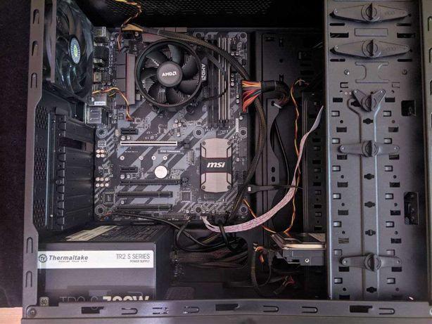 Игровой компьютер: Ryzen 3 1200/B350 Tomahawk/8Gb DDR4/700W 80+