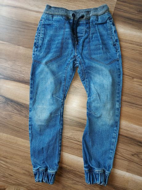 Spodnie jeansowe joggery Next 128