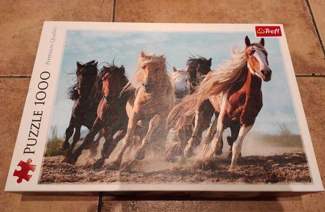 Puzzle 1000 tysiąc elementów konie