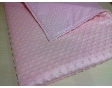 Kocyk różowy minky