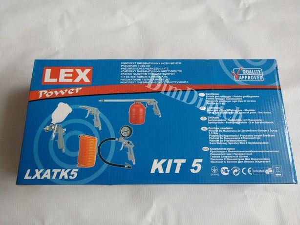 Комплект пневматичних інструментів LEX LXATK5