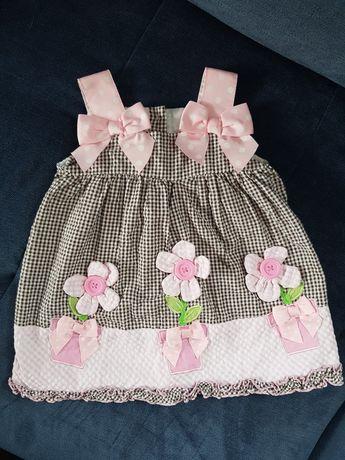 Urocza sukienka dla dziewczynki 80-92