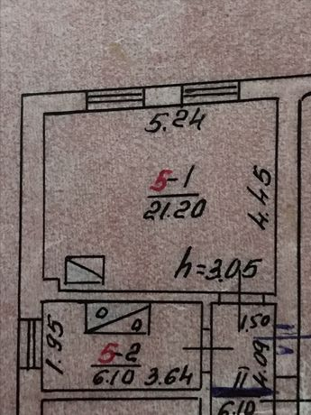 Однокімнатна квартира, велика площа, можна зробити дві кімнати
