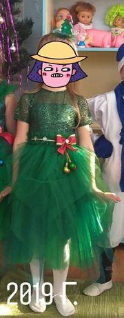 Платье елки на утренник на 4-5-6 лет