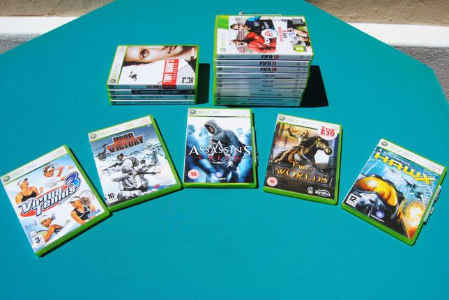 Jogos XBOX 360 originais na caixa com manuais