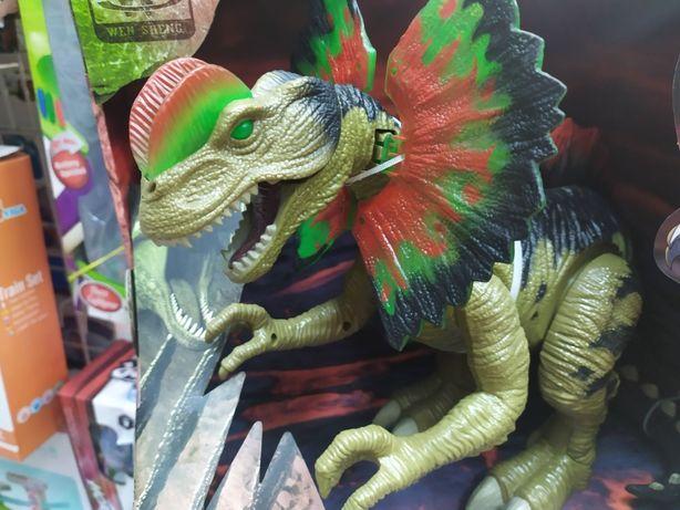 Музыкальная игрушка интерактивный динозавр 45 см, дино ходит и рычит