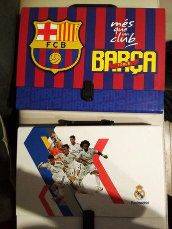 Teczka walizka dla chopca real Madryt i Barcelona dzień dziecka