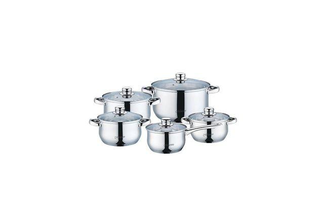 Набор посуды нержавеющий Maestro - 1,5 x 2 x 3 x 5 x 1,5 л (5 шт