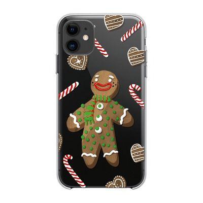 Capa Traseira Winter Gingerbread Man Lmobile Iphone 12 Mini - Transparente