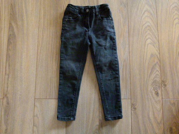 George spodnie czarne jeans rozmiar 110