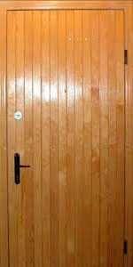 Входные двери с отделкой деревянная вагонка