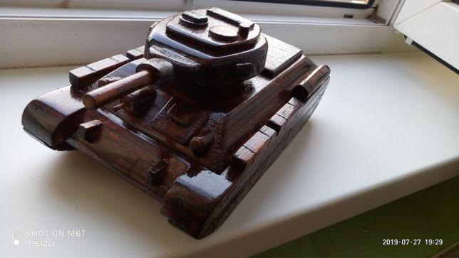 танк Т 34 - 75 деревянная модель ручной работы