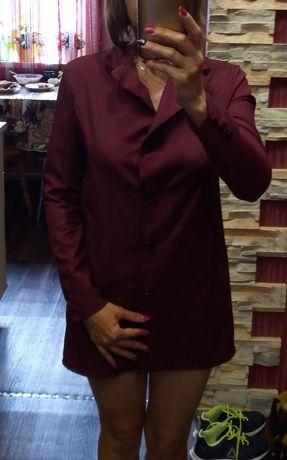 Пиджак Кардиган бордовый женский