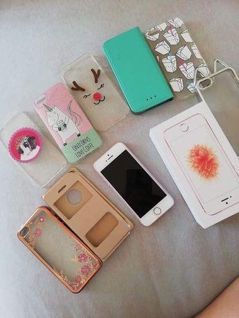 Iphone se rose gold 64 gb pamięci obudowy pudełko komplet