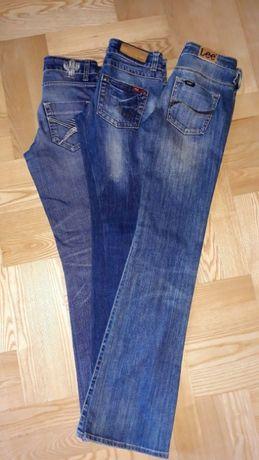 Jeansy 2x roz. 34 + 1x roz. 36 (Lee/Only/AJC Jeans)
