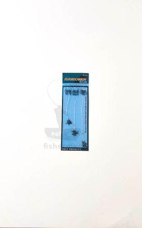 Комплект флюрокарбонових поводків 15/20/25 см, 30шт.