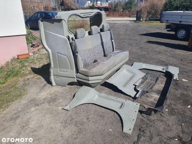 Fotele kanapa zabudowa dubelt kabina vivaro trafic
