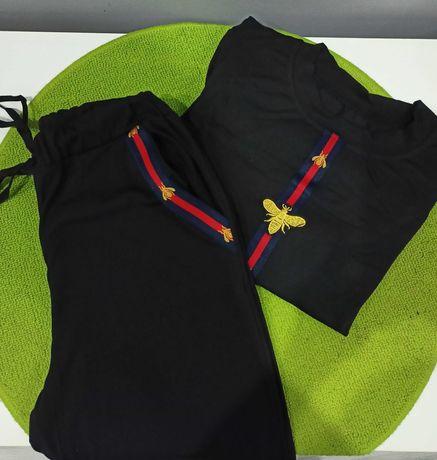 Piżama NOWA S odzież wypoczynkowa komplet bluzka i spodnie