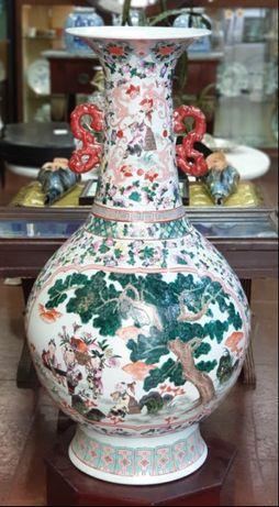 grande jarrao em porcelana chinesa chines