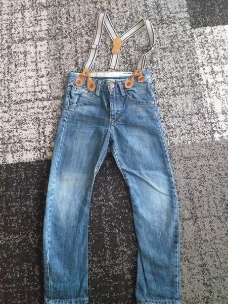 Spodnie z szelkami Zara 110 cm 4-5 lat