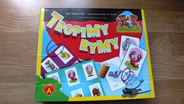 gra edukacyjna-Tropimy rymy-przygotowanie do czytania