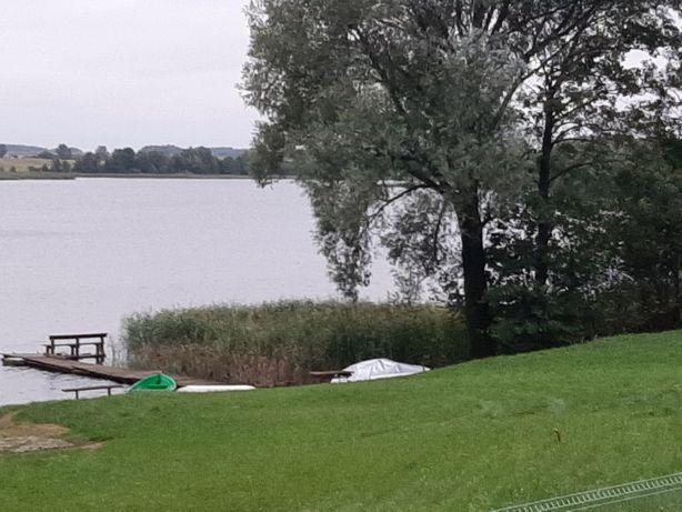 Domek letniskowy dzialka nad jeziorem