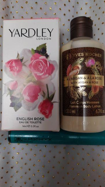 Набор с розой : туалетная вода Yardley Роза и молочко Аргания–Роза.