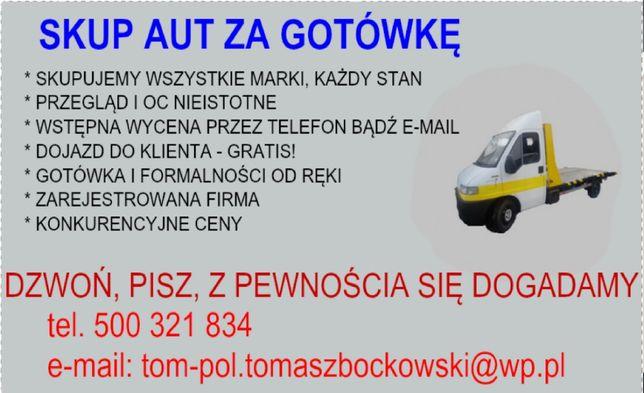 Skup aut za gotówkę/ LEGALNA FIRMA Ostrów Mazowiecka i okolice