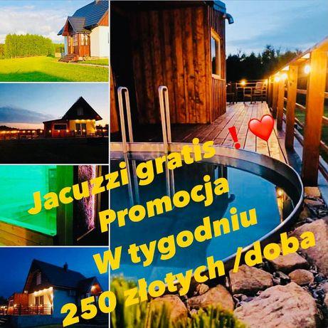 Domek letniskowy basen sauna jacuzzi Podkarpacie klimatyzowany bon tur