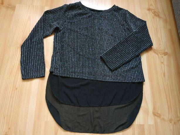 Czarna bluzka ze srebrną nitką r. L/XL