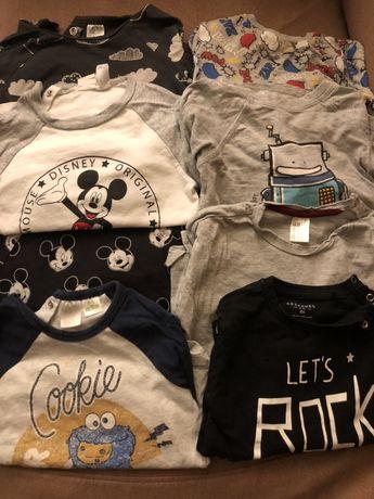 Wysyłka za 1pln! Bluzki długi rękaw koszulki h&m 86