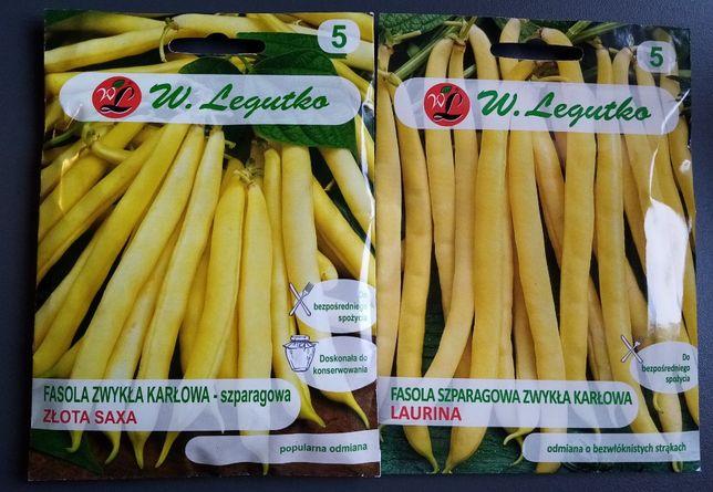 fasola zwykła karłowa Szparagowa żółta nasiona