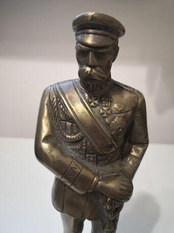 Figurka Józefa Piłsudskiego z mosiądzu