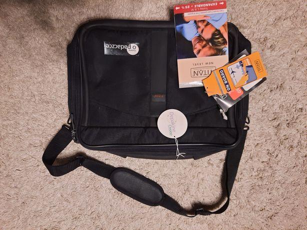 Markowa torba na laptopa Titan nowa