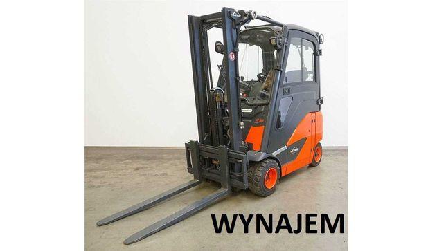 Wynajem wózka wózek widłowy elektryk Linde E16 PH kabina elektryczny