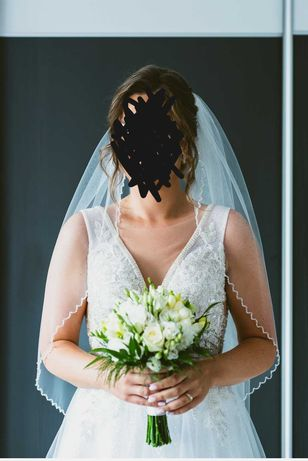 Welon Ślubny Kryształki