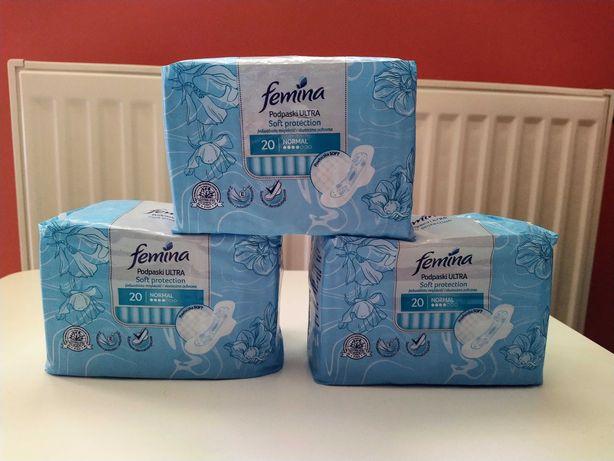 Podpaski Femina Ultra Soft Protection 3 opak. x 20 szt.