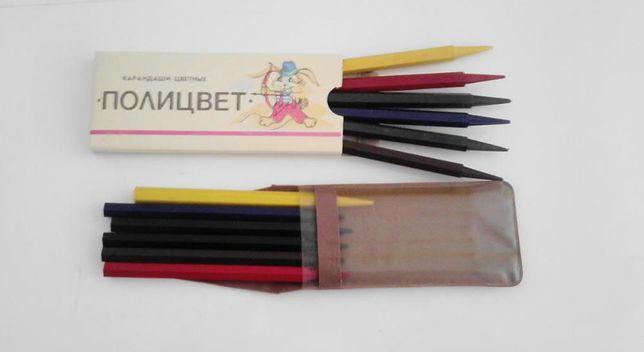 Карандаши цветные восковые с цельным грифелем ( 6 шт.)