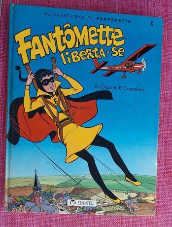 Lote de  7 livros antigos de Banda desenhada