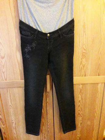 Spodnie ciążowe bonprix wąski fason